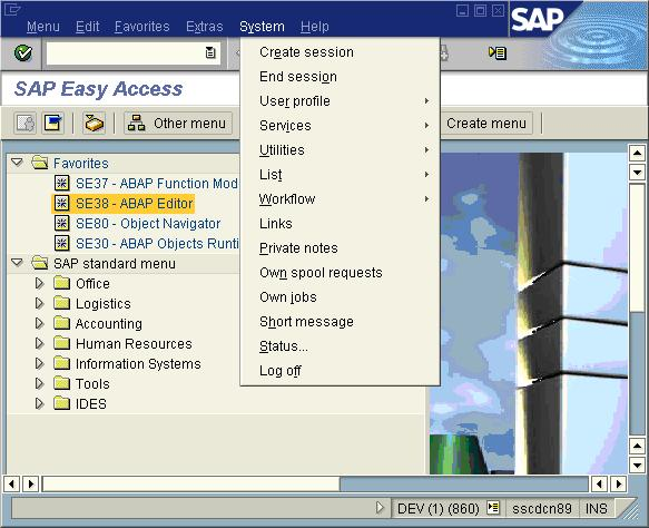 SAP General System Functions