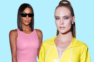 Звездотренд: как Ким Кардашьян, Рианна и другие звезды носят платья из латекса и кожи
