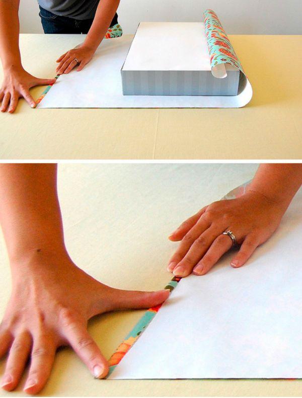 Как упаковать коробку бумагой
