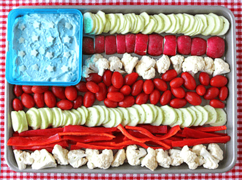 4th of july veggie tray