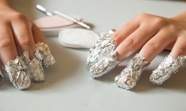 How to get shellac off of nails