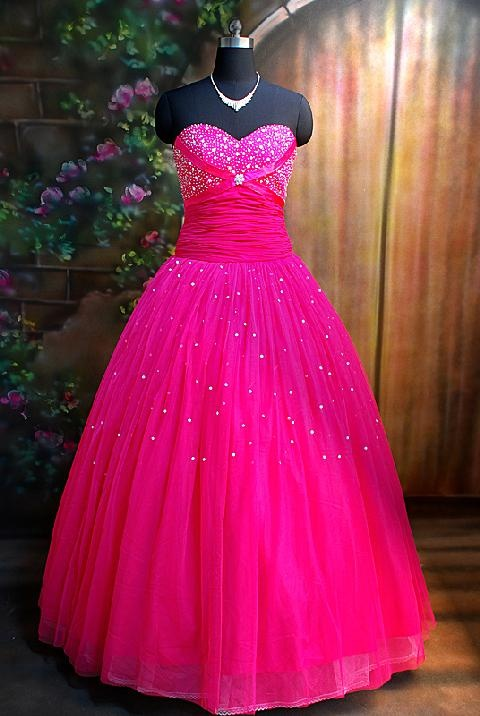Hot pink dress for wedding
