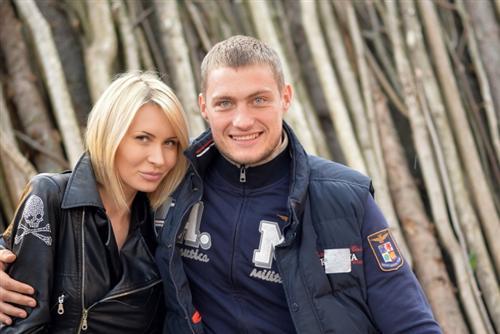 Элина Камирен с Сашей Задойновым