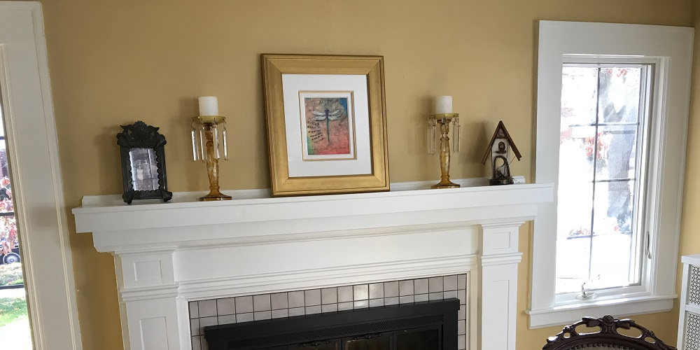 Artwork by Tim Yanke. how to hang artwork without nails