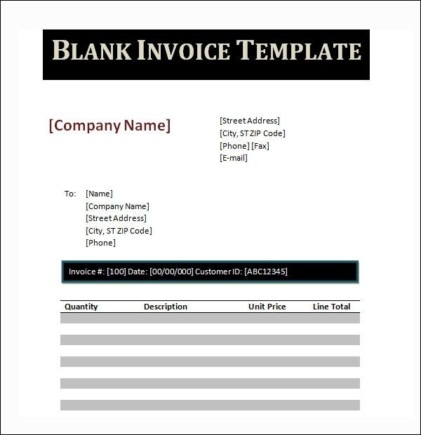 Sample dj invoice template