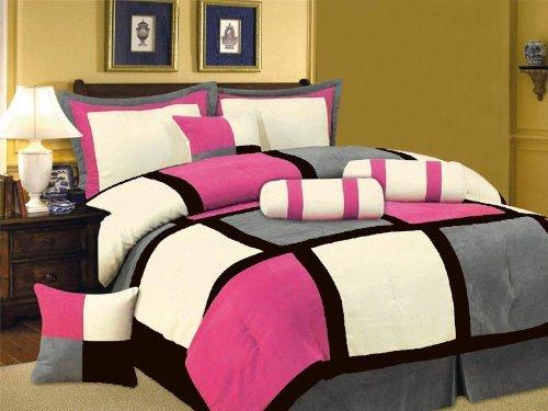 Pink and black comforter sets