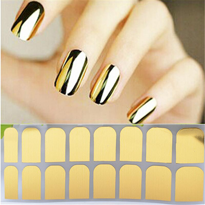 Metallic nails stickers