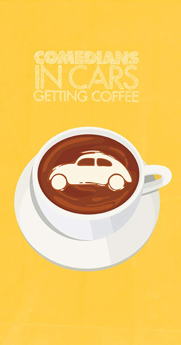 Celebrities driving in cars getting coffee