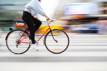 Radfahrer im Straßenverkehr