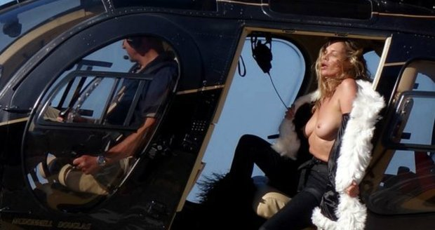 Kate moss topples