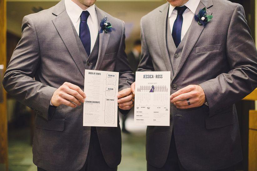 Ushering at a wedding