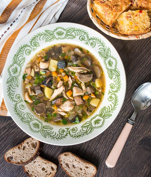 Грибной с лесными грибами суп рецепт с фото