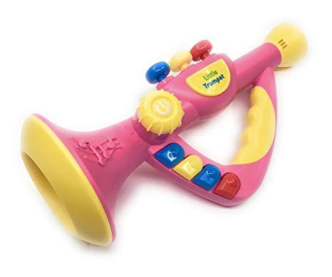 Pink trumpet toy