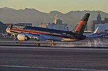 Donald trump's airplane