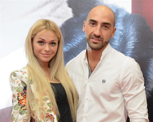 Анна Хилькевич с мужем Артуром Волковым