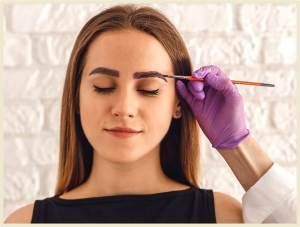 Окрашивание бровей краской для волос