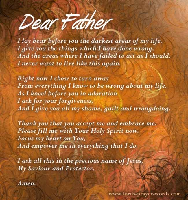 Prayer to jesus for forgiveness