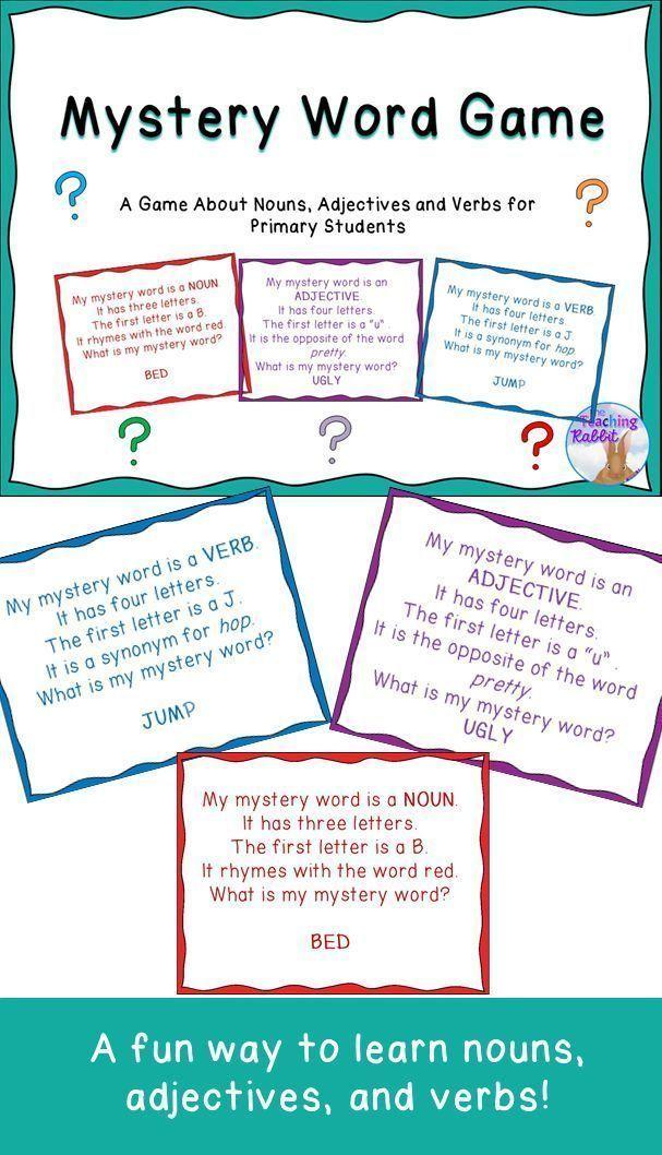 Adjective games first grade