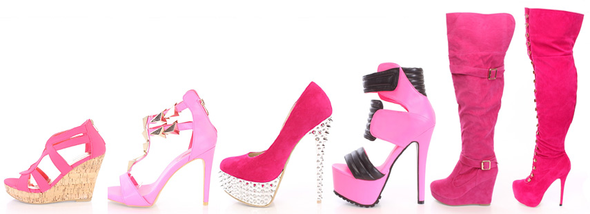 Hot pink womens heels