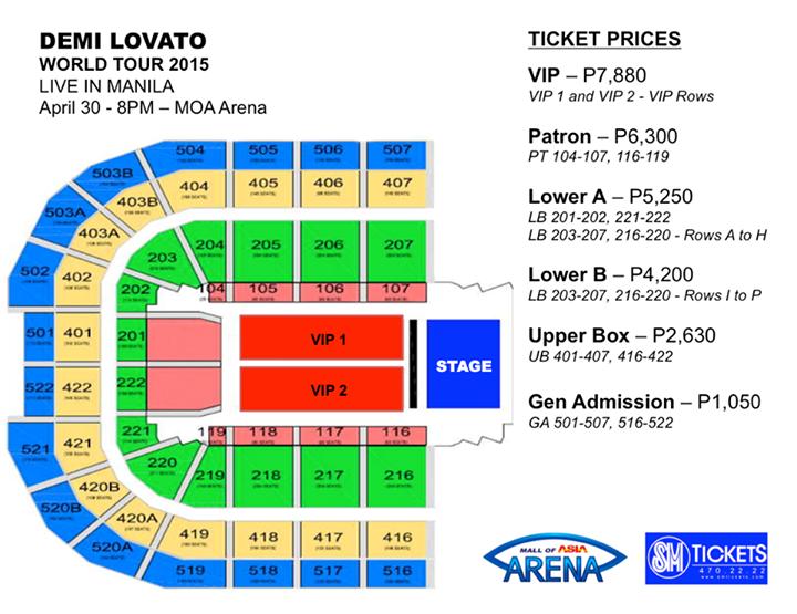 Demi lovato ticket prices