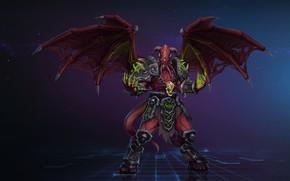 Обои WOW, Fantasy, Blizzard, Арт, WarCraft, Demon, Characters, Game Art, Demon Lord, by Kazbek Dzasezhev, Kazbek ...