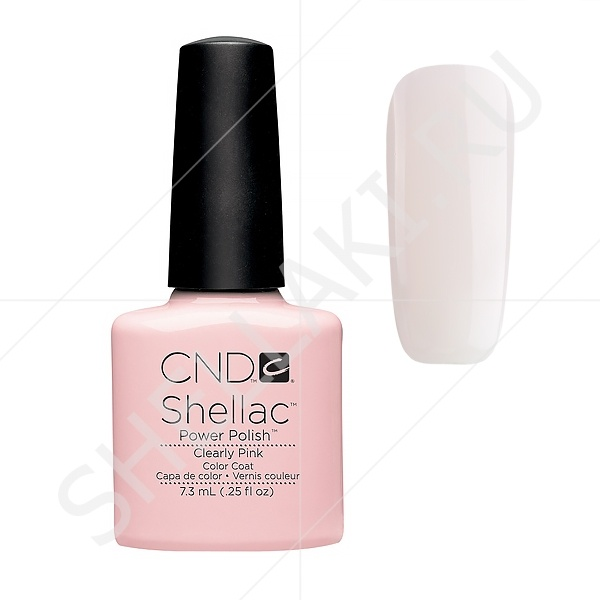 Cnd clearly pink shellac