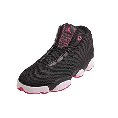 Girls pink and black jordans