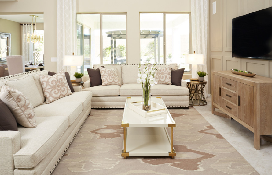 Yucca Plan: Open Gathering Room with natural lighting and spacious feel