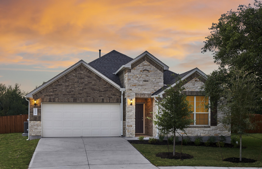 Sommerville - Elevation D with Stone Exterior and Brick Accents