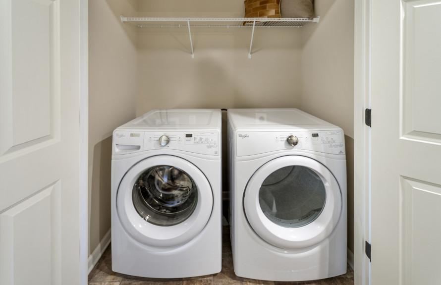 Laundry near bedroom