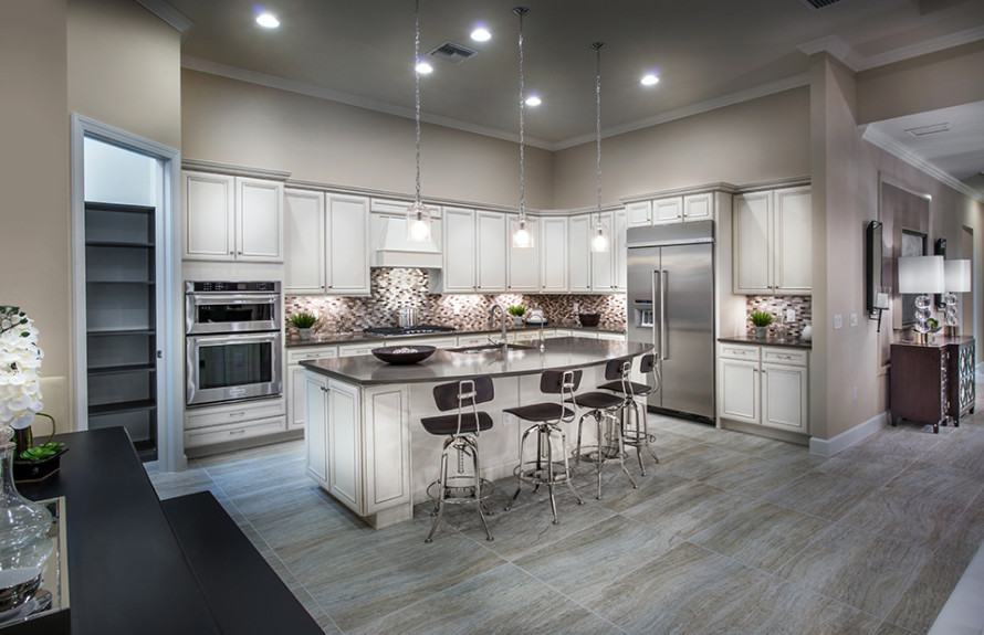 Stonewater - Conceptual image of the gourmet Kitchen with built-in stainless appliances