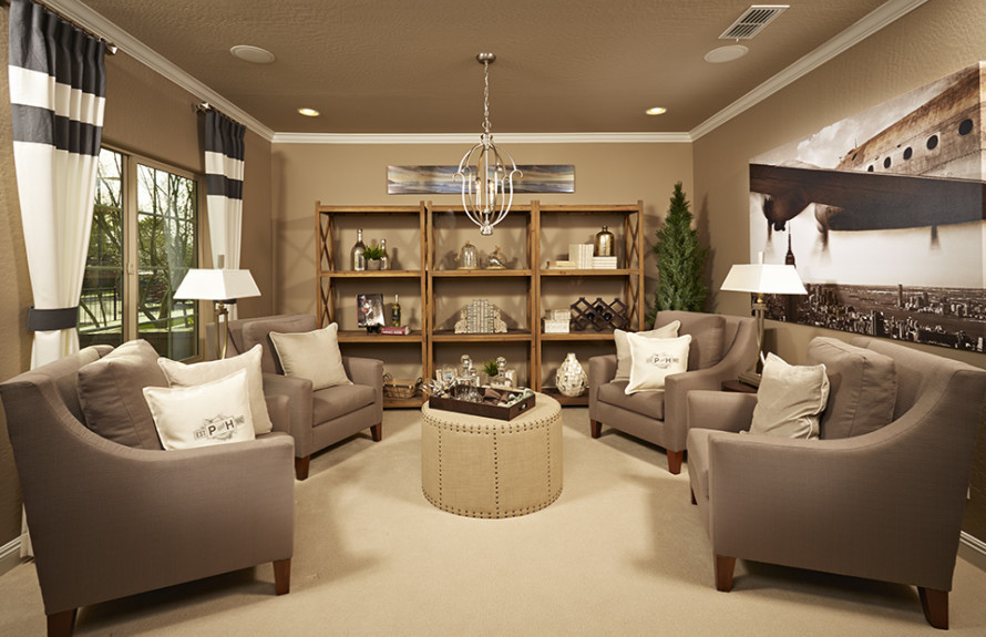 Creosote Plan: Elegant Den perfect for a peaceful place to get work done or simply to relax