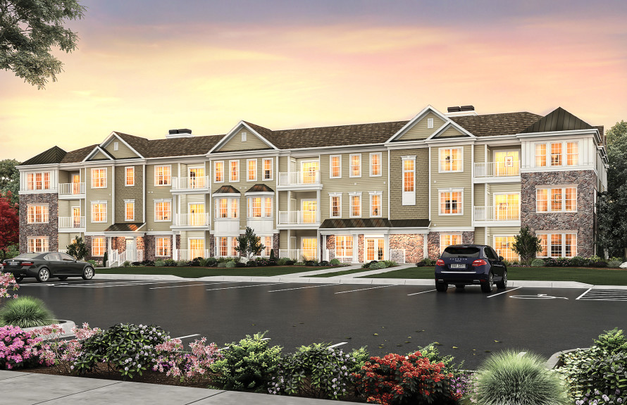 Realistic rendering of the Saratoga Series Condominiums coming to the Retreat at Carmel