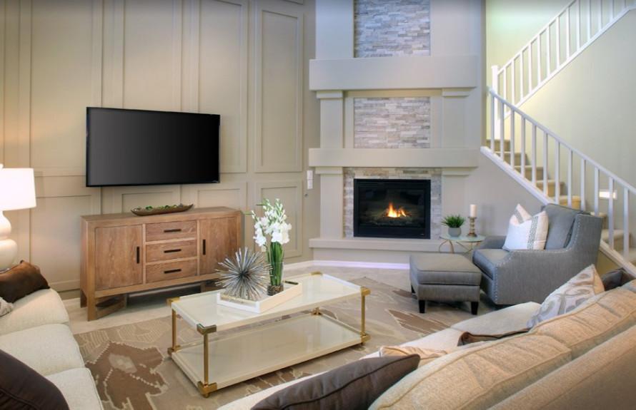 Yucca Plan: Cozy fireplace with optional stone veneer