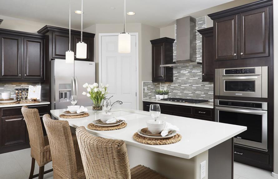 Manzanita Plan: Spacious Kitchen with large kitchen island perfect for entertaining guests