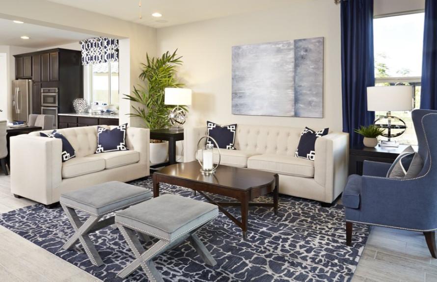 Manzanita Plan: Gathering Room with an elegant yet spacious feel