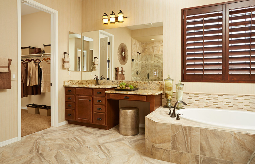 Quinlan Plan: Beautiful Owner's Bath with separate tub and shower