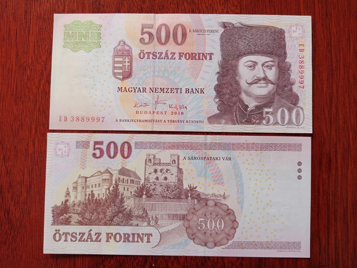 Tờ 500 Forint Hungary