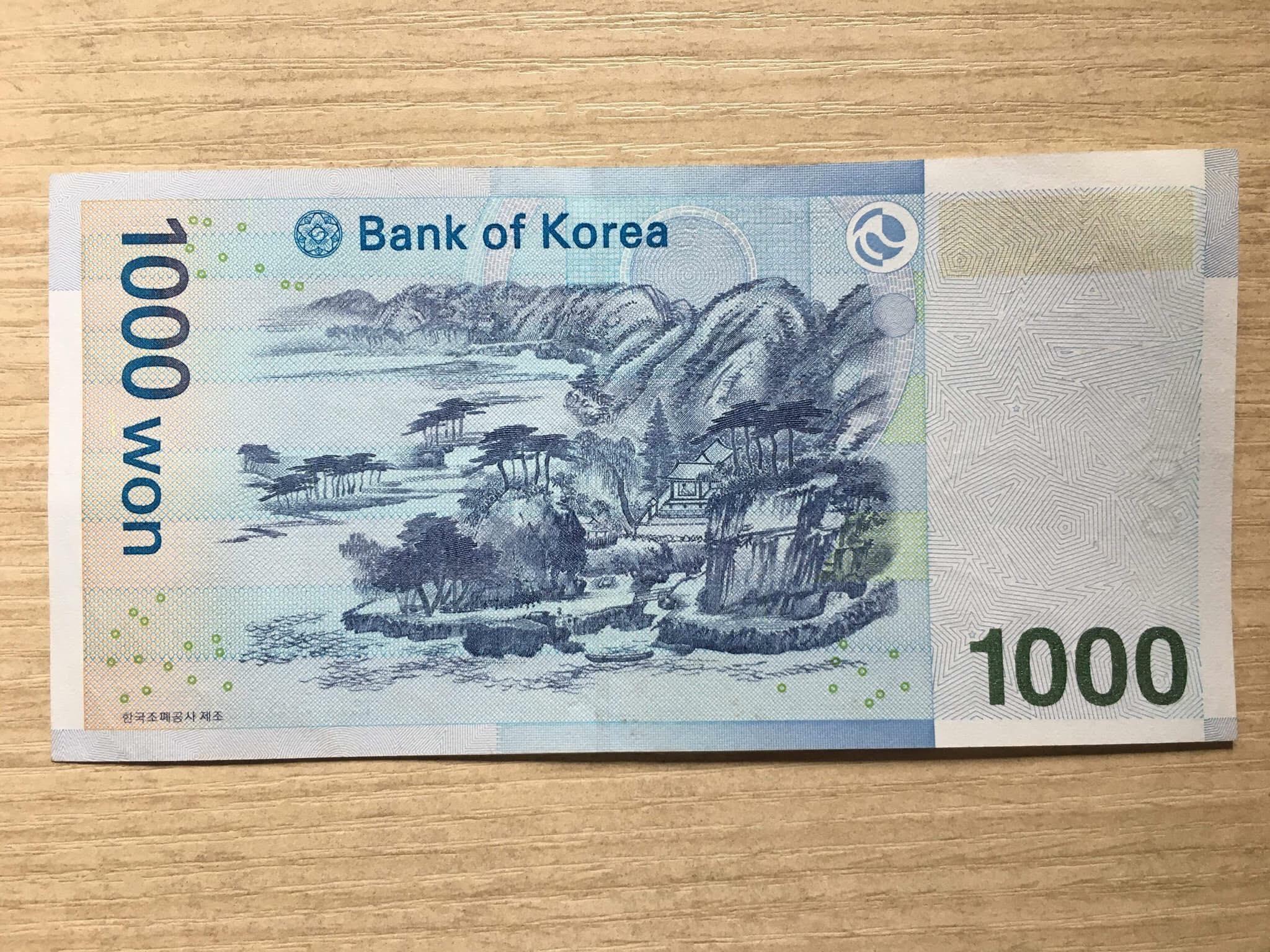 Tờ 1000 Won Hàn Quốc