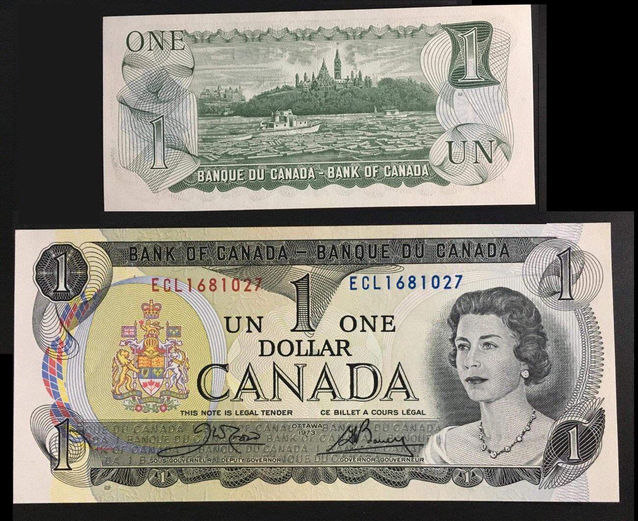1 Đô Canada phát hành năm 1973