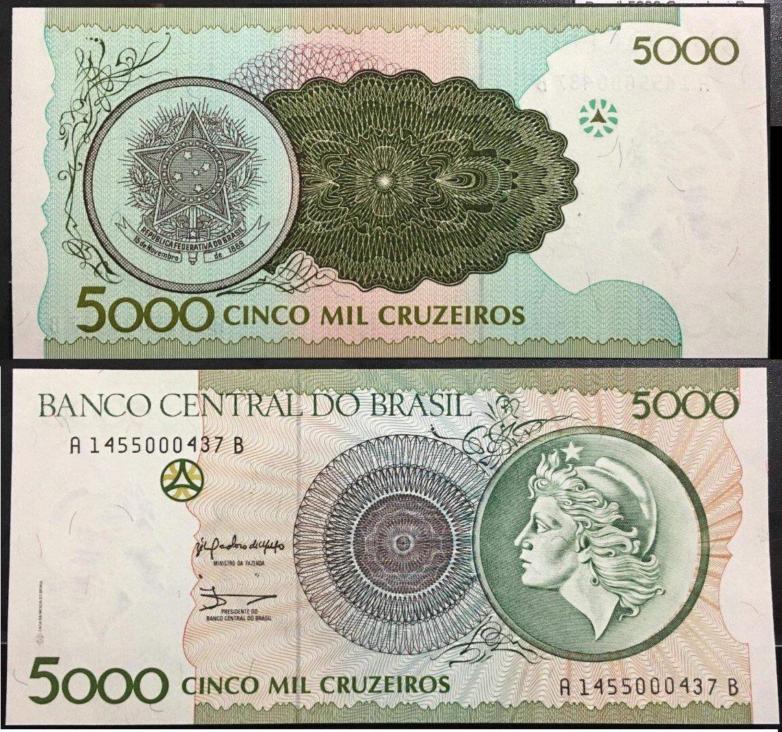 5000 Ria (real) Brazil (Brasil)