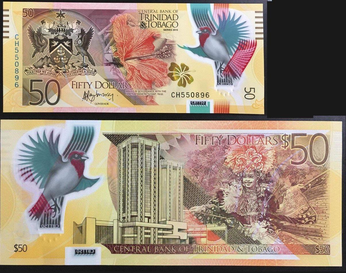 50 Đô Trinidad and Tobago, phát hành năm 2015