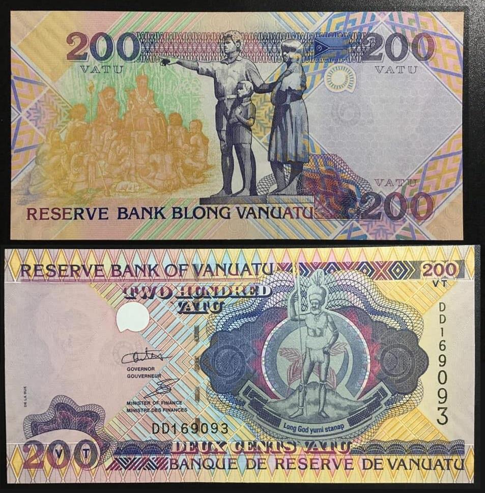 200 đồng Vana, tiền Vanuatu phát hành năm 1995