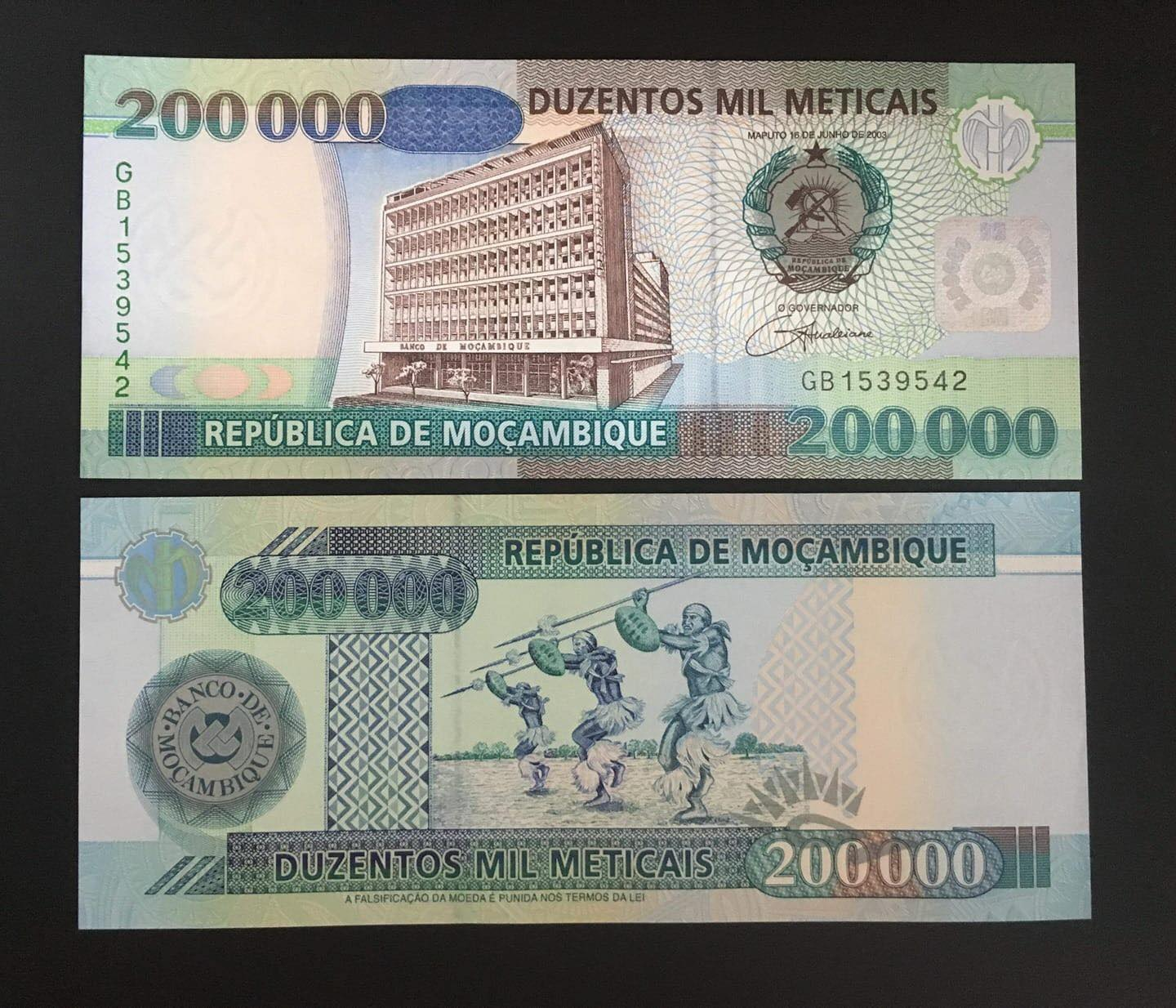 200000 Metical, tiền Mozambique