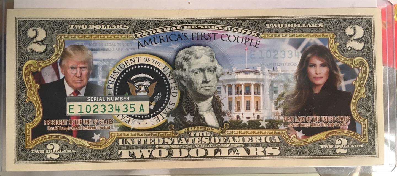 Tờ 2 đô in hình Trump