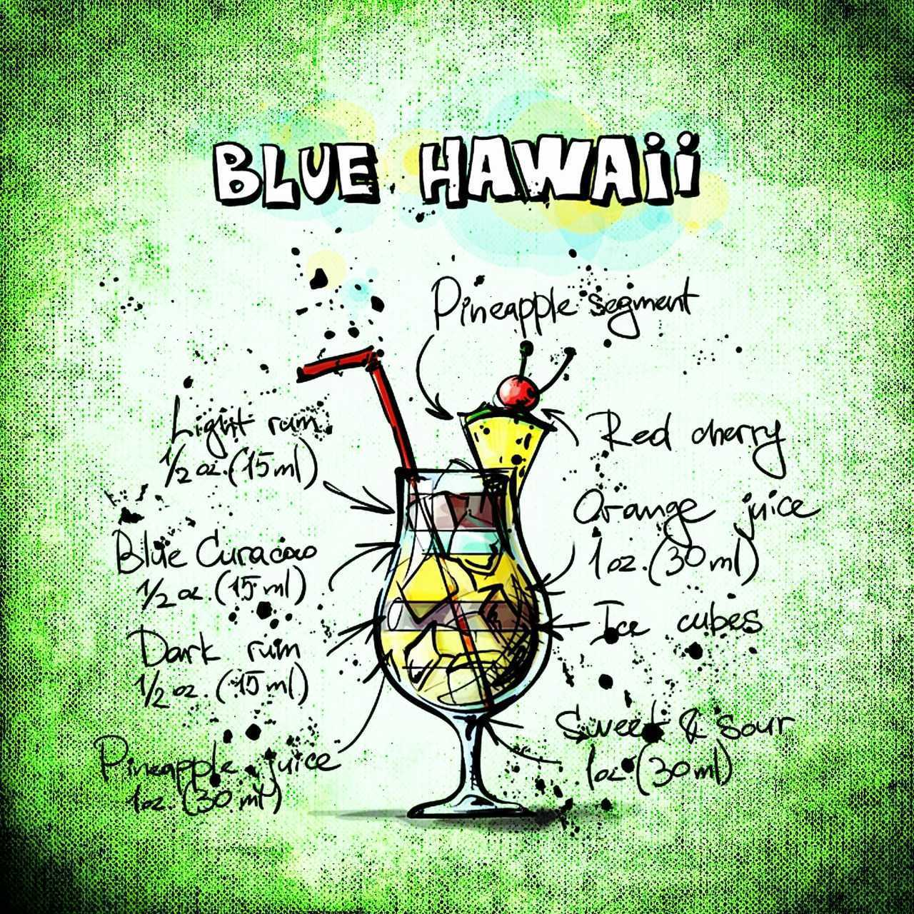modrý hawai