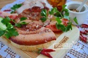 Как приготовить вареное сало в луковой шелухе