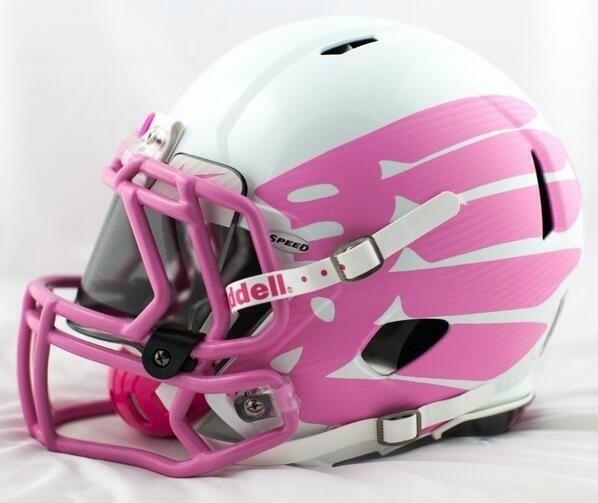 Pink oregon ducks helmets