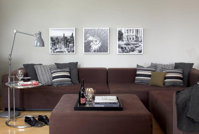 инстаграм снимки на стене в интерьере
