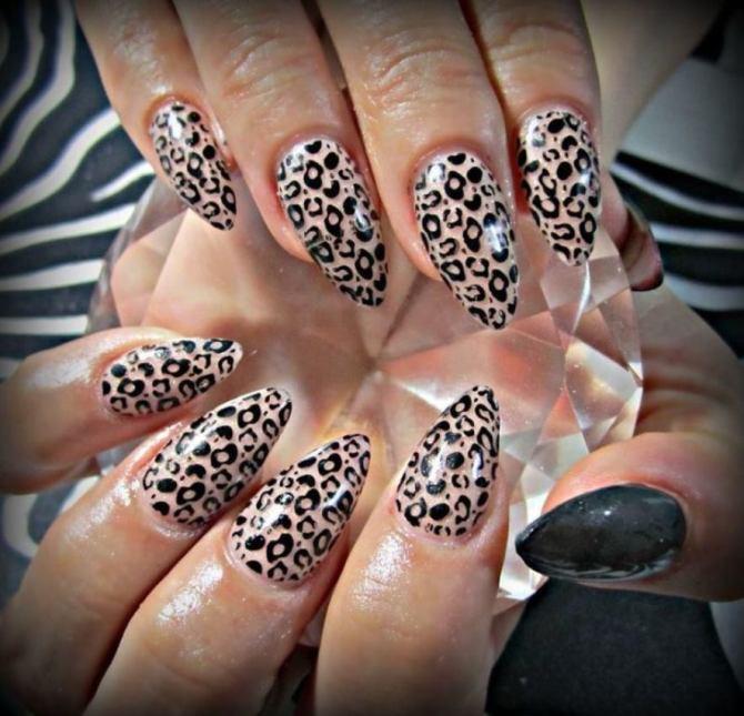 Animal print fake nails
